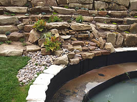Stonework and water features