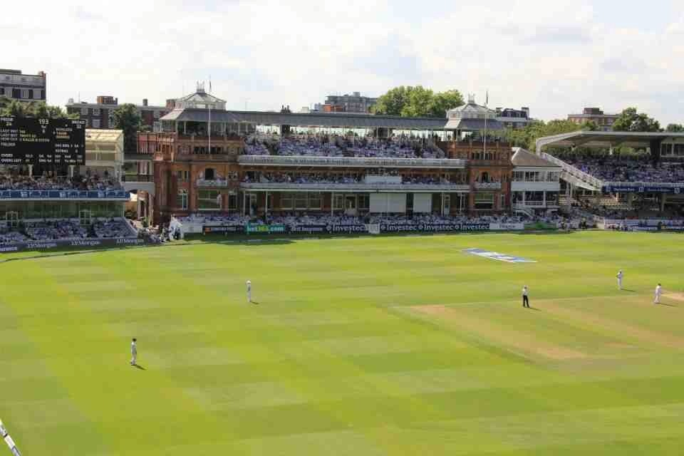 A view of the immaculate playing surface at Lord's